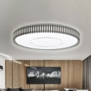 Integrated Led Round Flush Lighting Contemporary White Ceiling Flush Light in White/Neutral/Warm Light with Diffuser