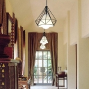2 Packs Black Wire Frame Hanging Light with White Fabric Shade 1 Light Industrial Pendant Lamp for Kitchen