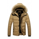 Men's Winter Warm Long Sleeve Hooded Puffer Down Jacket Coat