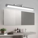 Metal Cylinder Wall Light Fixture with Diffuser Integrated Led Modern Vanity Mirror Light for Bathroom
