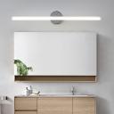 Acrylic Tube Wall Lighting Adjustable Modern Integrated Led Bath Bar for Bathroom