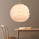 White Orb Ceiling Pendant Light Contemporary Acrylic 1 Light Ceiling Light Fixture