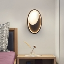 Black/White Oval Wall Mounted Light Modern Simple Metal Bedroom Led Wall Lamp in Warm/White