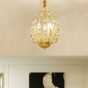 3/6 Lights Crystal Pendant Light Modern Gold Indoor Chandelier Light for Living Room
