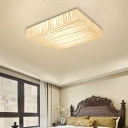 Acrylic Square LED Ceiling Mount Light Hotel Office Simple Stylish Ceiling Lamp in White