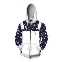 Rocketman Cosplay Halloween White Braces Suit 3D Print Zip Up Hoodie