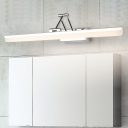 Modern Swing Arm Wall Sconce Light Metallic Polished Chrome LED Vanity Lighting