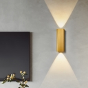 Up and Down LED Wall Sconce with Rectangle Metal Shade Nordic Black/Bronze/Coffee/Gold/Grey Wall Mount Light