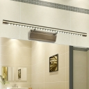 Modern Linear Bath Bar Adjustable Integrated Led Vanity Lighting in Aged Brass for Bathroom