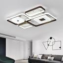 Square Flush Lighting Modern Multi Light Metal and Acrylic Led Ceiling Flush Mount