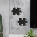 Puzzle Piece Wall Mount Light Modern Decorative Black/White LED Wall Light Fixture in Warm/White