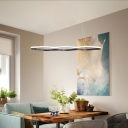 Height Adjustable Wave Hanging Light Simplicity Metal Led Chandelier Light with 39