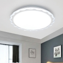 Nordic Flush Mount Ceiling Light with Acrylic Scalloped Shade 1 Light 16