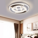 Modern Round Ceiling Lights Acrylic Unique White Ceiling Light Fixtures in Warm/White/Natural