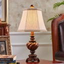 Bell Fabric Shade Table Lamp 1-Light Traditional Table Lighting for Living Room