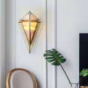 Diamond Wall Mount Lighting Designer Style 2 Lights Wall Lamp with Amber/Smoke Glass Shade