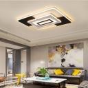 Warm/White Light Geometric Flush Mount Lamp Modern Acrylic 16