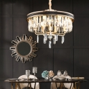 Contemporary Ring Pendant Lighting with Clear Faceted Crystal 7/9 Lights 18