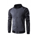 Stand Collar Raglan Long Sleeve Single Breasted Jacket Sweatshirt with Zipper Pocket