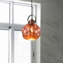 Single Light Global Hanging Ceiling Light Art Deco Mirrored Glass Pendant Light in Chrome/Gold/Rose Gold