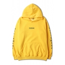 Fashion Unisex Hooded Letter Printed Hoodie Sweatshirt with One Kangaroo Pocket