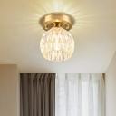 Round Design Ceiling Lamp Modern Glass Metal 1 Head Ceiling Lights for Living Room Bedroom Foyer