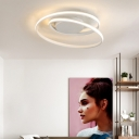 White/Black Circle Ceiling Lights Flush Mount Modern 18