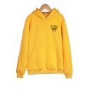 Women Cute BEE KIND Print Long Sleeve Plain Funny Thick Drawstring Hoodie