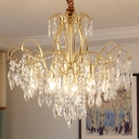 Clear Crystal Chandelier Lighting Vintage Luxury 7/8 Lights 19.5
