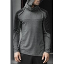 Men's Hot Fashion Colorblock Print Long Sleeve Loose Casual Pullover Hoodie