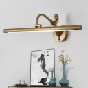 Black/Aged Brass Cylinder Vanity Light Modern Metal 1-Led 14