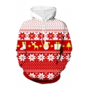 Popular Santa Claus Snowflake Printed Long Sleeve Christmas Hoodie