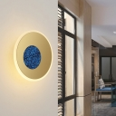 Gold Round Wall Mount Lighting Nordic Metal 8