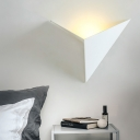 Triangle Wall Lighting with Black/White Metal Shade Integrated Led Nordic Wall Light Fixture in Warm/White
