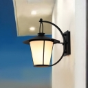Cone/Cylinder Wall Hanging Lamp Industrial Style Iron 1 Head Wall Sconce in Royal Black