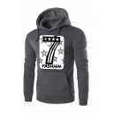 Mens Fashion Number 7 Star Printed Long Sleeve Pullover Hoodie