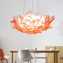 1 Light Cloud Pendant Lighting Modern Acrylic Blue/Orange/Purple/Pink Suspension Light in Third Gear