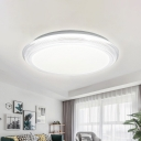 Acrylic Round Flush Mount Lighting Minimalist Integrated Led Indoor Flush Lighting for Living Room in White