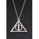 Popular Logo Geometric Triangle Pattern Simple Chain Necklace