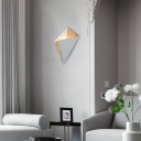 Geometric Wall Mounted Lighting 1 Light Wood and Metal Art Deco Wall Lamp for Bedroom