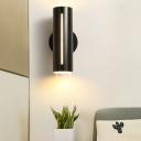 Cylinderical Sconce Light Modern Metal LED Wall Mount Lighting for Living Room