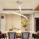 White Spiral Ceiling Flush Light Minimalist Metal Integrated Led Ceiling Lamp