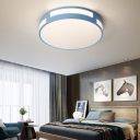 Round Flush Ceiling Light Modern Nordic Acrylic Shade LED Flushmount Light in Blue/Green/Pink/Yellow