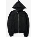 Plain Long Sleeve Oblique Zipper Unisex Hoodie with Pocket