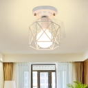 White/Pink/Green Metal Frame Ceiling Mounted Light Minimalism 1 Light Ceiling Light Flush Mount for Cloakroom