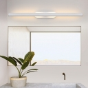 Slim Tube Wall Mounted Lamp Simple Modern Metal Led Vanity Lighting for Bathroom