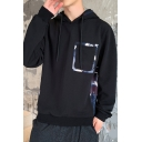 New Trendy Camouflage Pocket Print Long Sleeve Casual Drawstring Pullover Hoodie