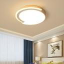 Acrylic Round Led Flush Mount Ceiling Light Minimalist Led Ceiling Light in Warm/White Light, 16