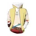 Unisex Chic False Clothing Suit 3D Print Long Sleeve Drawstring Hoodie