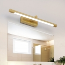 Nordic Cylinder Wall Mounted Vanity Light Indoor Led Vanity Lamp in Wood Grain